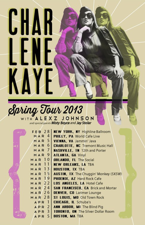 Charlene Kaye & Alexz Johnson Announce Joint Spring Tour Dates