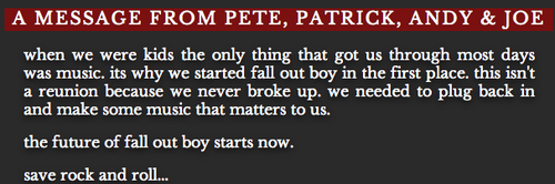 Fall Out Boy Is BACK!
