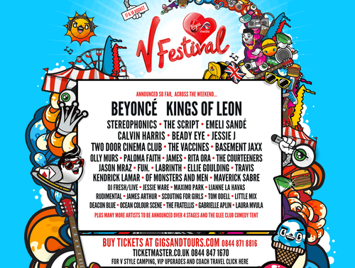 V Festival Line-up Announced!