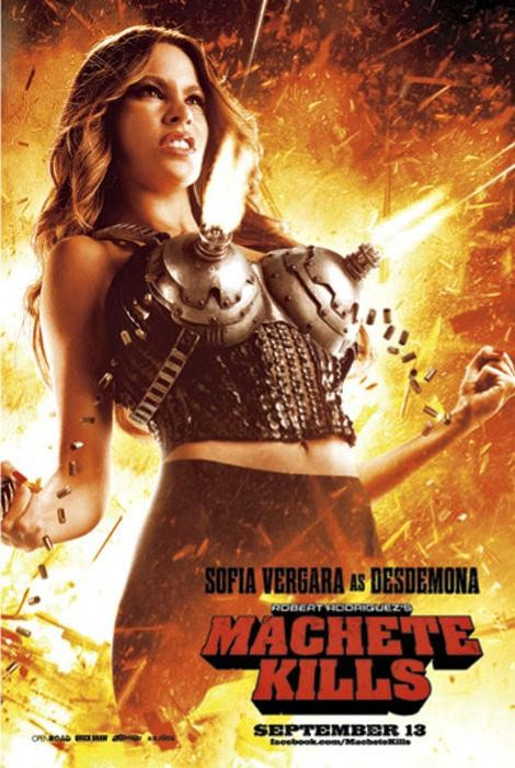 Watch Out Now! Sofia Vergara Kills In New 'Machete Kills' Poster!