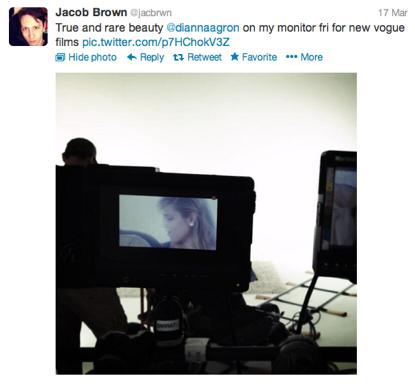 Dianna Agron To Grace Vogue.com!