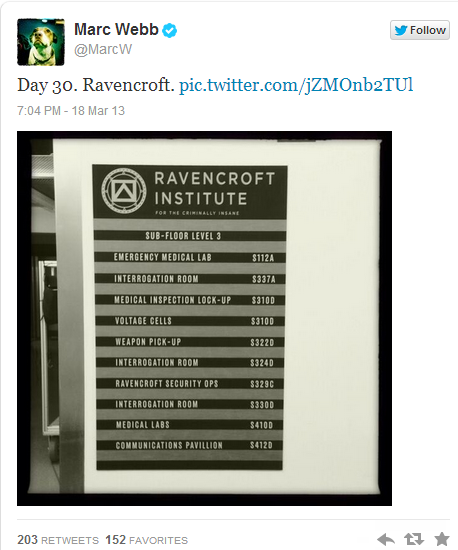 Ravencroft Institute To Be In The Amazing Spider-Man 2!