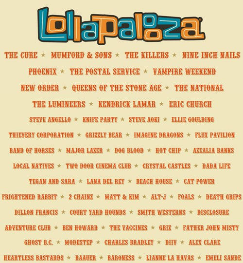 Mumford And Sons, The Killers and N.I.N. to Rock Lollapalooza!