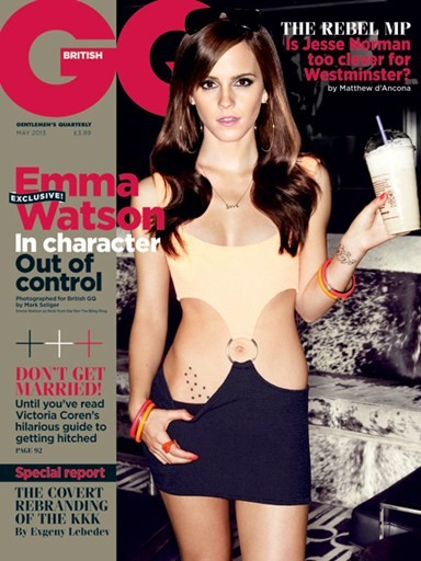 Emma Watson Channels Her 'Bad Girl' On Cover Of Britain's GQ!