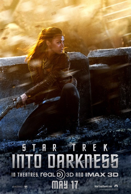 Zoe Saldana Makes a Stand In New Star Trek Into the Darkness Poster!