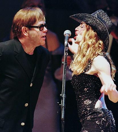 Elton John and Madonna Kiss and Makeup: Feud Over!
