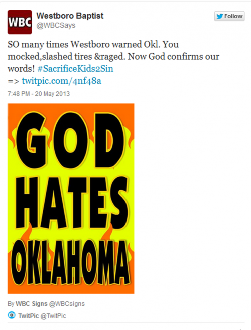Westboro Baptist Church Blames OK Disaster On NBA's Jason Collins!