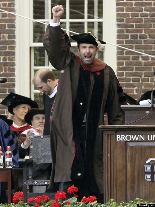 Oscar Winner Ben Affleck Honored By Brown University!