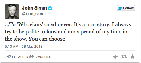 Doctor Who's John Simm Fights Back Against Whovian Backlash!