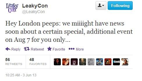 LeakyCon London To Have WB London Studio Tour?!