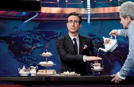 John Oliver Begins His Stand In For Jon Stewart On