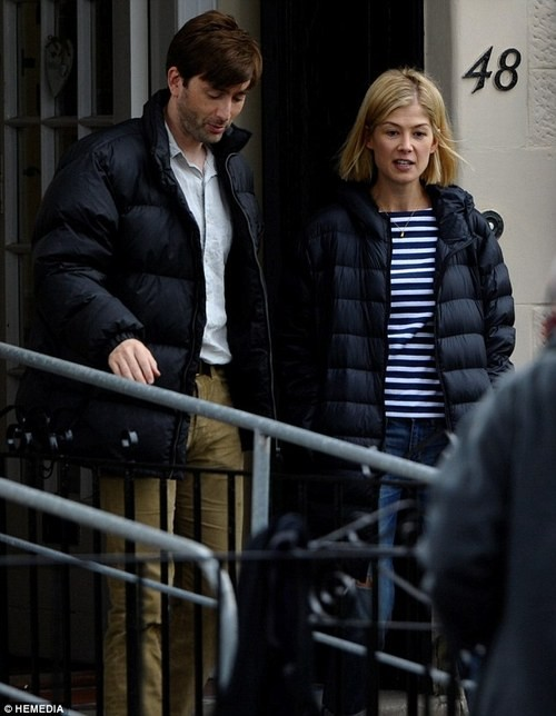 David Tennant And Rosamund Pike Are Spotted Filming In Glasgow!