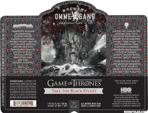 Take The Black With This New 'Game Of Thrones' Dark Stout Beer!