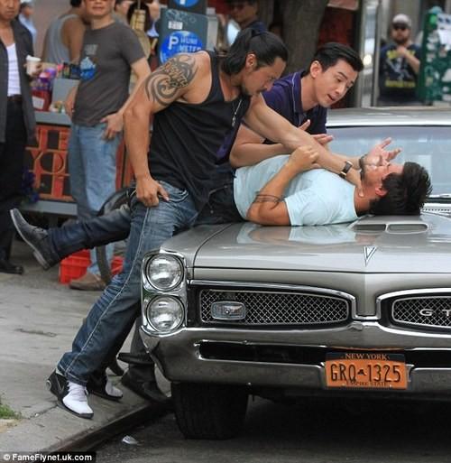 Taylor Lautner Films Fight Scene For His New Film,