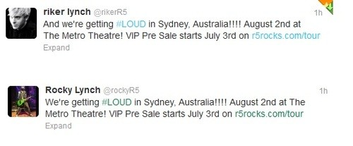 R5 Plans To ROCK Australia!!!!