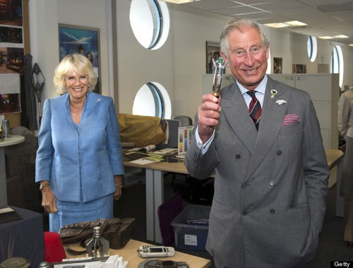 Royals In The TARDIS! Charles and Camilla Visit The Doctor Who Set!