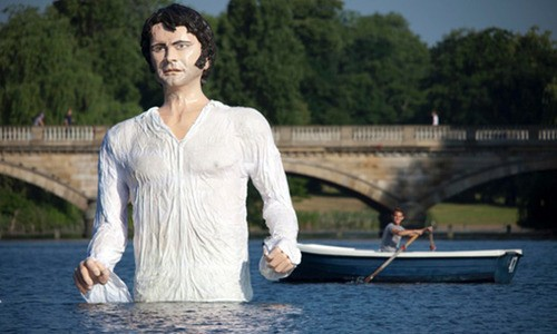 Colin Firth's Mister Darcy Lands In London's Serpentine!
