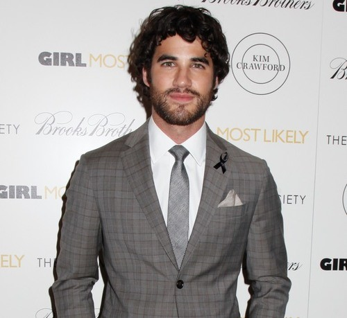 Darren Criss Pays Silent Tribute To Cory Monteith at Movie Premiere
