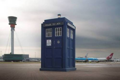 Whovian Alert: TARDIS Materialised at Heathrow Airport!