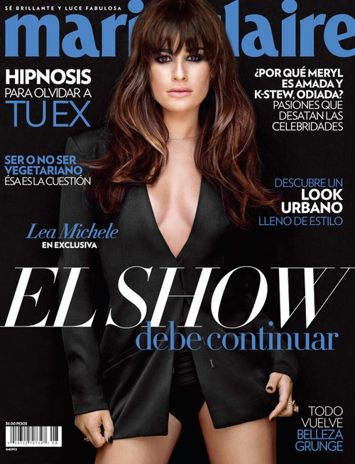 Lea Michele Graces Marie Claire Mexico Cover And Talks About Cory