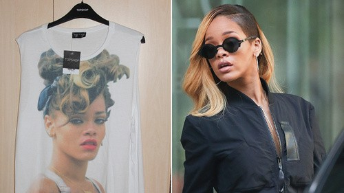 Rihanna Sues Topshop For Selling A Shirt With Her Face On It