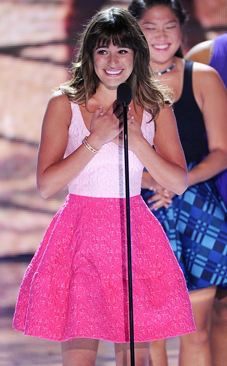 Lea Michele Gives An Emotional Tribute To Cory Monteith At TCAs