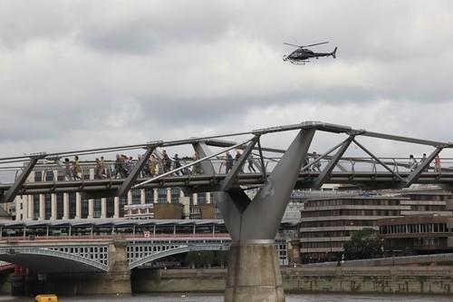 Marvel's Latest Venture Storms London's Millennium Bridge