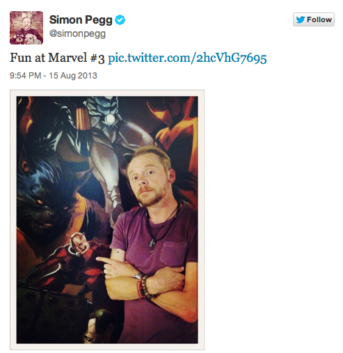 Could Simon Pegg Be The One To Play Ant-Man?