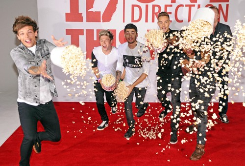 One Direction Fights Each Other...With Popcorn?