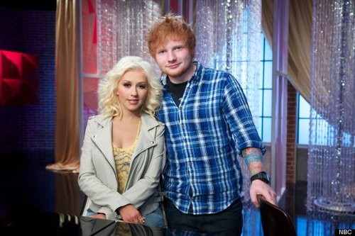 Ed Sheeran Joins Christina Aguilera On The Voice