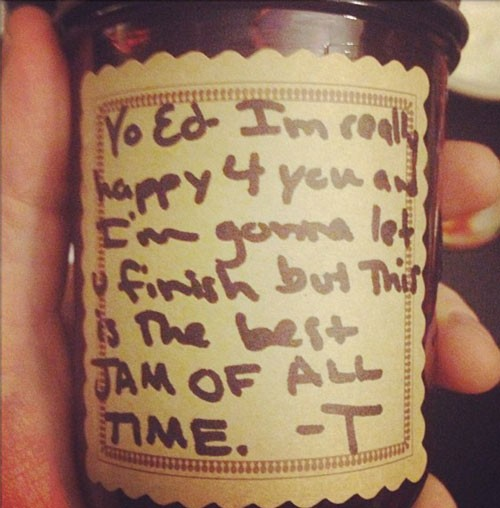 Taylor Swift Calls Out Kanye West...On A Jam Jar?