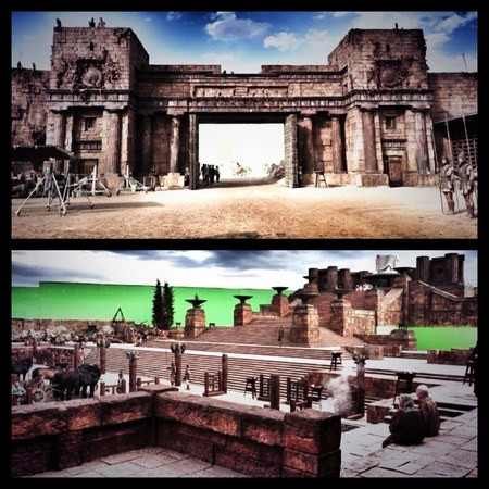Dwayne Johnson Shares Some Set Pics From Hercules