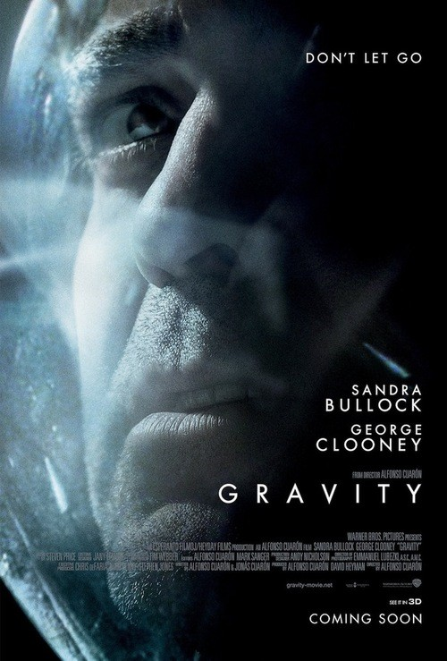 New Promotional Poster For Gravity Shows George Clooney Up Close