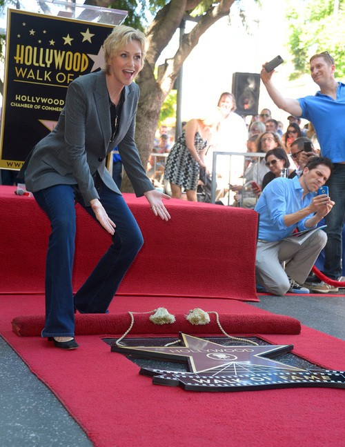 Jane Lynch Receives a Star On the Hollywood Walk of Fame.