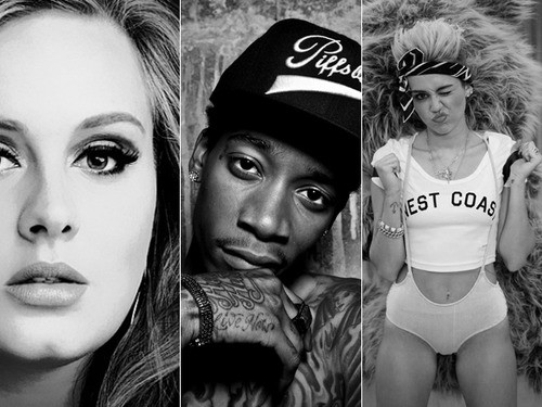 Adele and Miley: Unlikely Duo May Appear On Wiz Khalifa's New Album