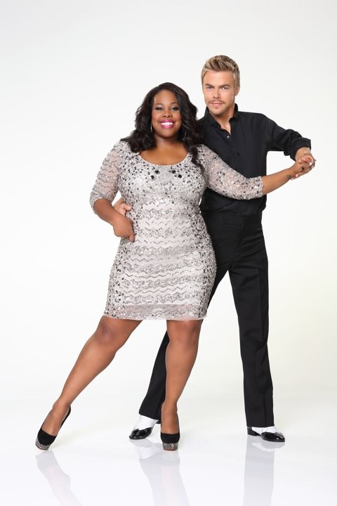 Amber Riley Feels The Pain During Dancing With The Stars Rehearsals