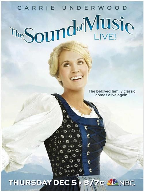 Carrie Underwood Channels Julie Andrews For Sound Of Music Poster