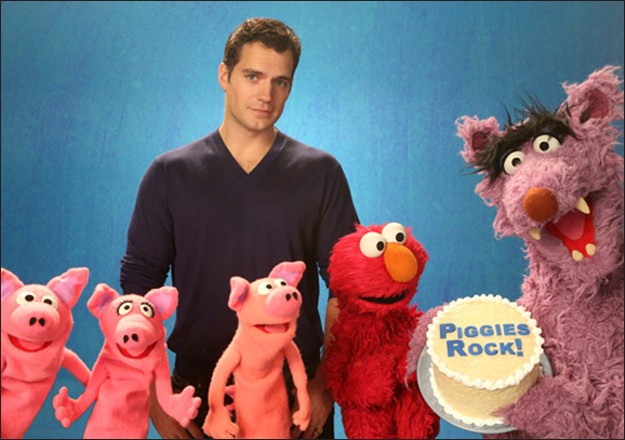 Henry Cavill Proves The Man Of Steel Has A Soft Side On Sesame Street