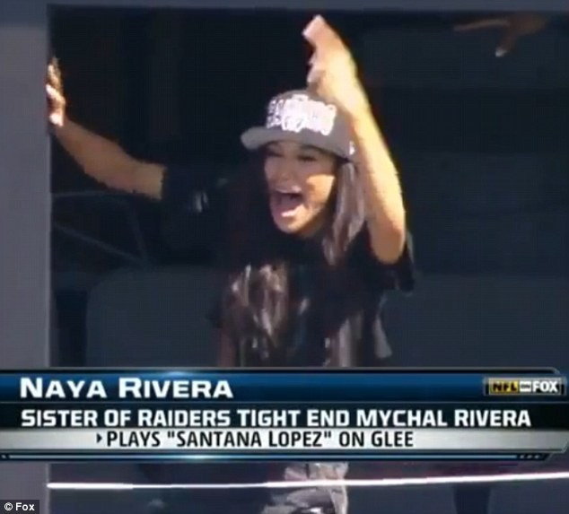 Glee's Former Cheerio Naya Rivera Cheers On Her Brother And The Raiders