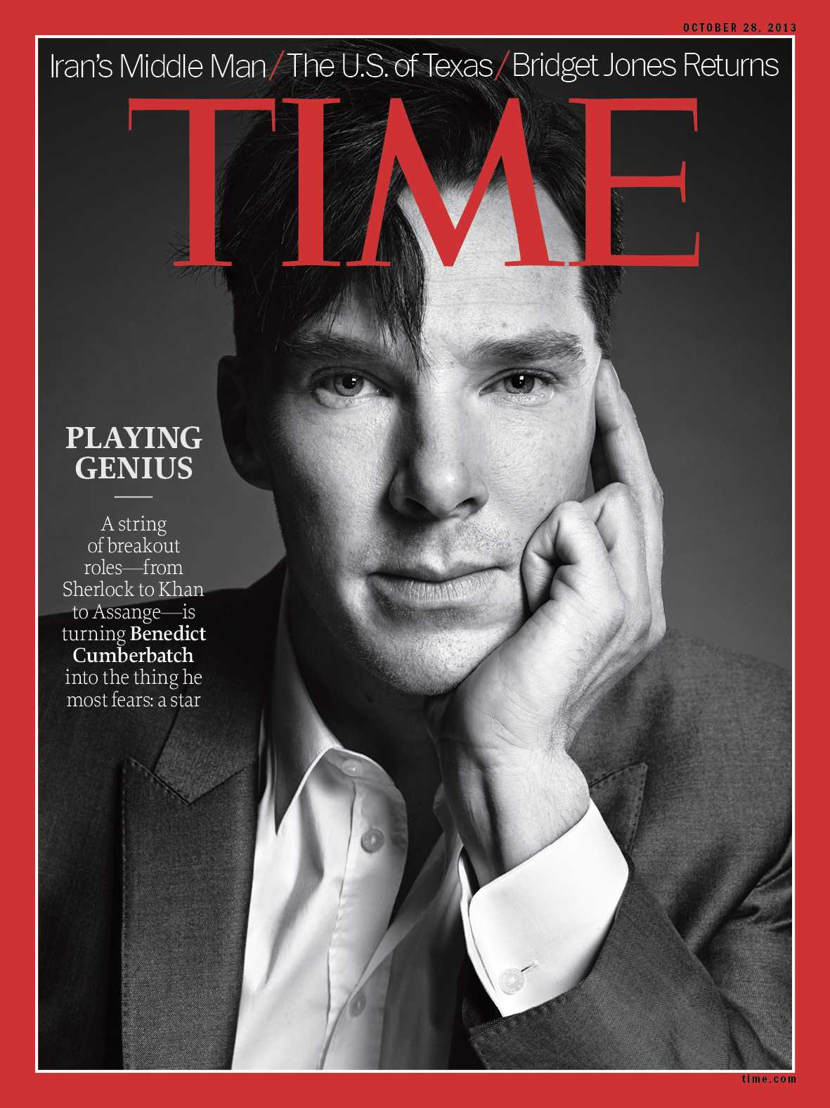Benedict Cumberbatch Covers Time Magazine And Opens Up About Sherlock, Assange, and More