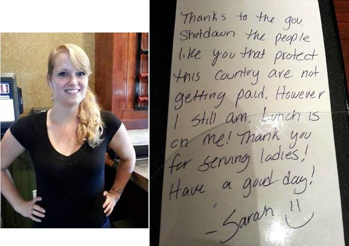 Waitress Pays For Service Personnel's Meal And Ellen Pays Her Back Big Time