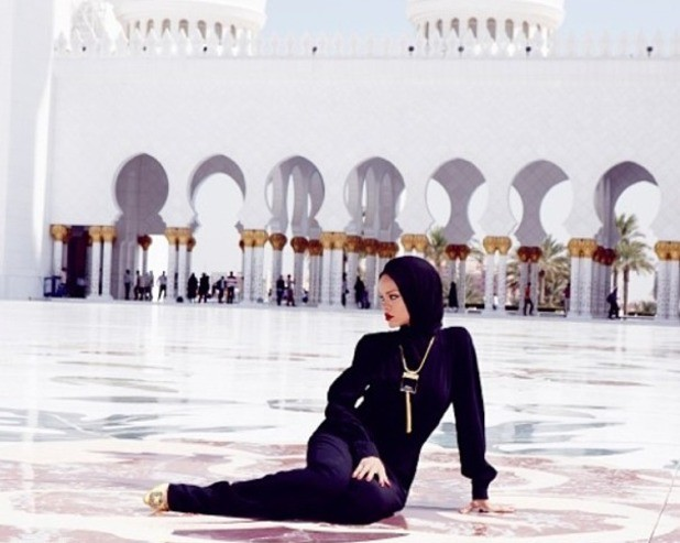 Rihanna Lands In Hot Water Over Mosque Photo
