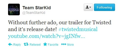 Team StarKid Announce Twisted YouTube Premiere Date