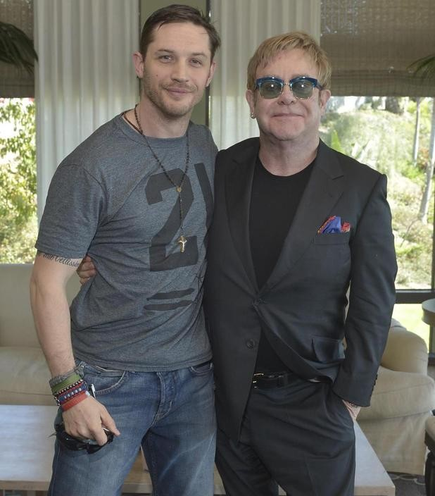 Tom Hardy And Elton John Are All Smiles Before Working On Rocketman Biopic