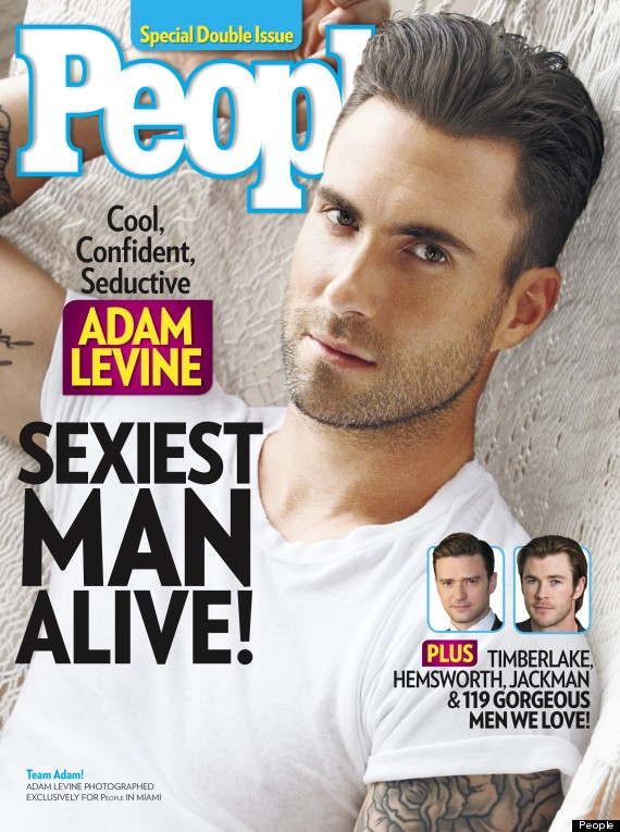 Adam Levine Is Named People Magazine's Sexiest Man Alive 2013!
