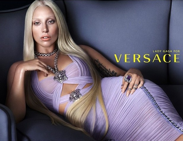 Lady Gaga's Print Ad For Versace Unveiled
