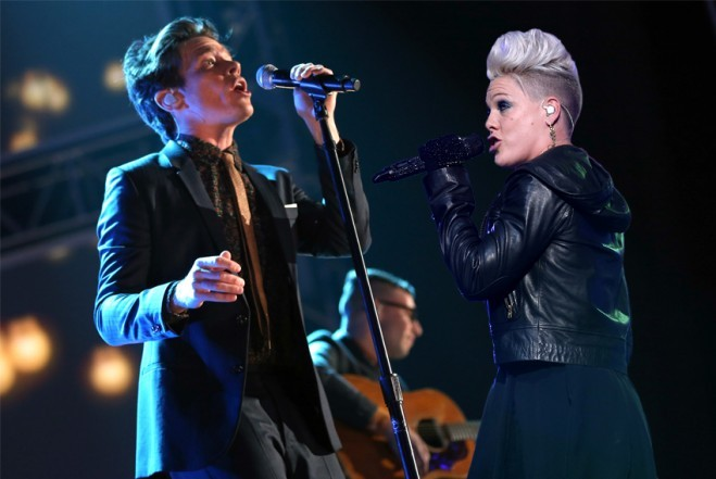 How P!nk Had To Con fun.'s Nate Ruess To Duet With Her For