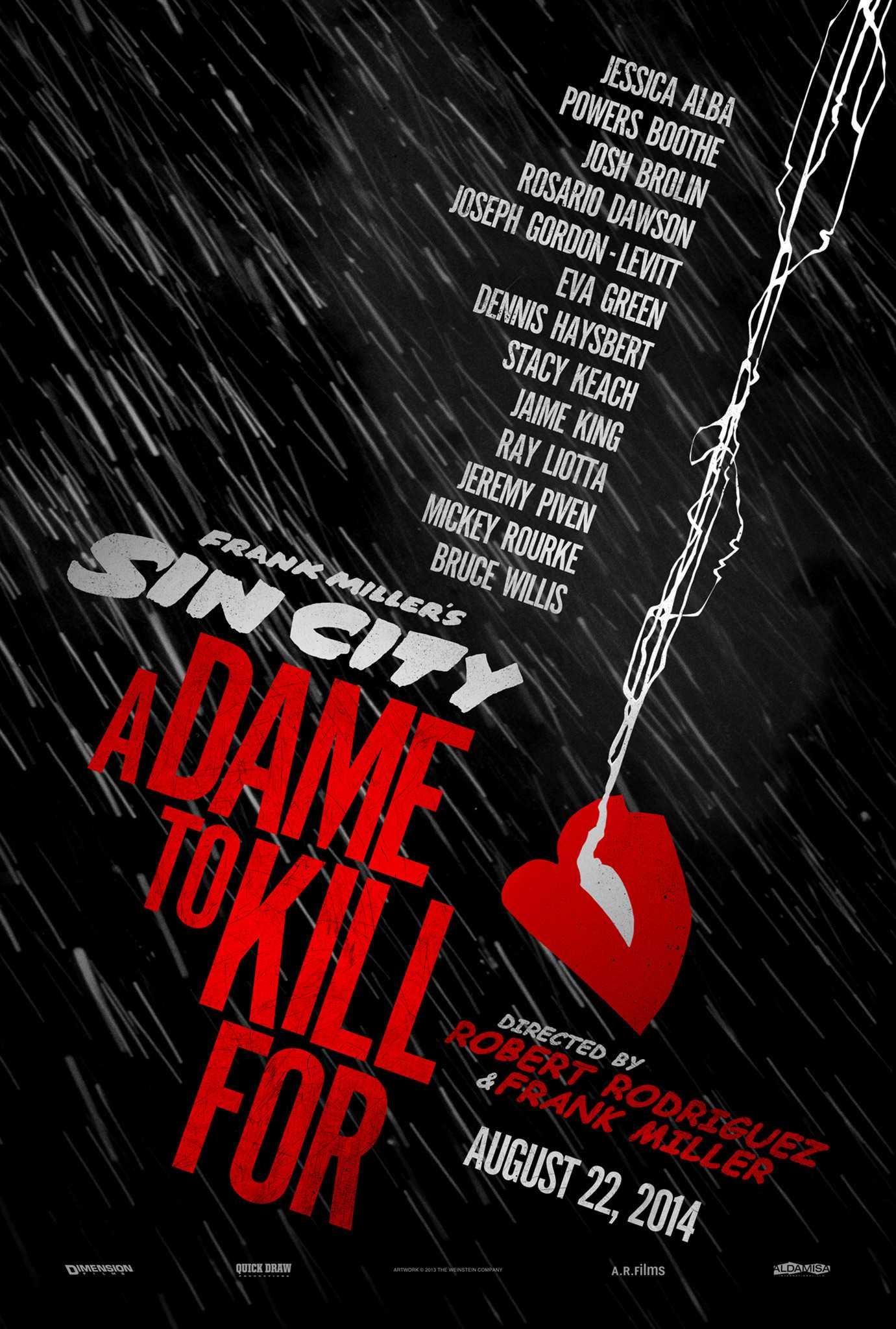 Teaser Poster Unveiled For Sin City: A Dame To Kill For