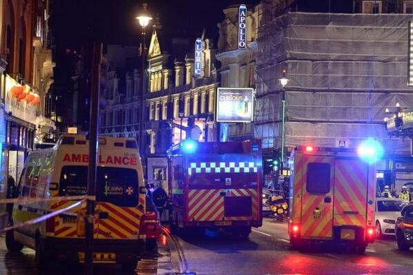 Theatregoers Injured As Part Of London Theatre Collapses
