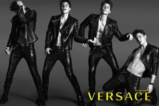 Glee's Nolan Funk Brings The Sexy In New Versace Ads